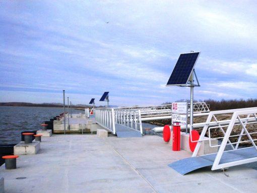 Fotovoltické osvetlenie prístavu Šamorín Dunaj